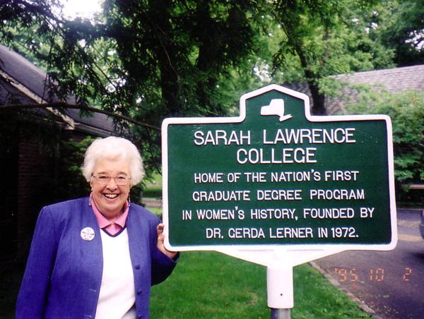 Gerda Lerner at Sarah Lawrence College